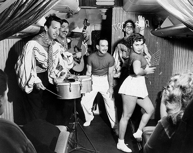 Partying on a flight to Cuba