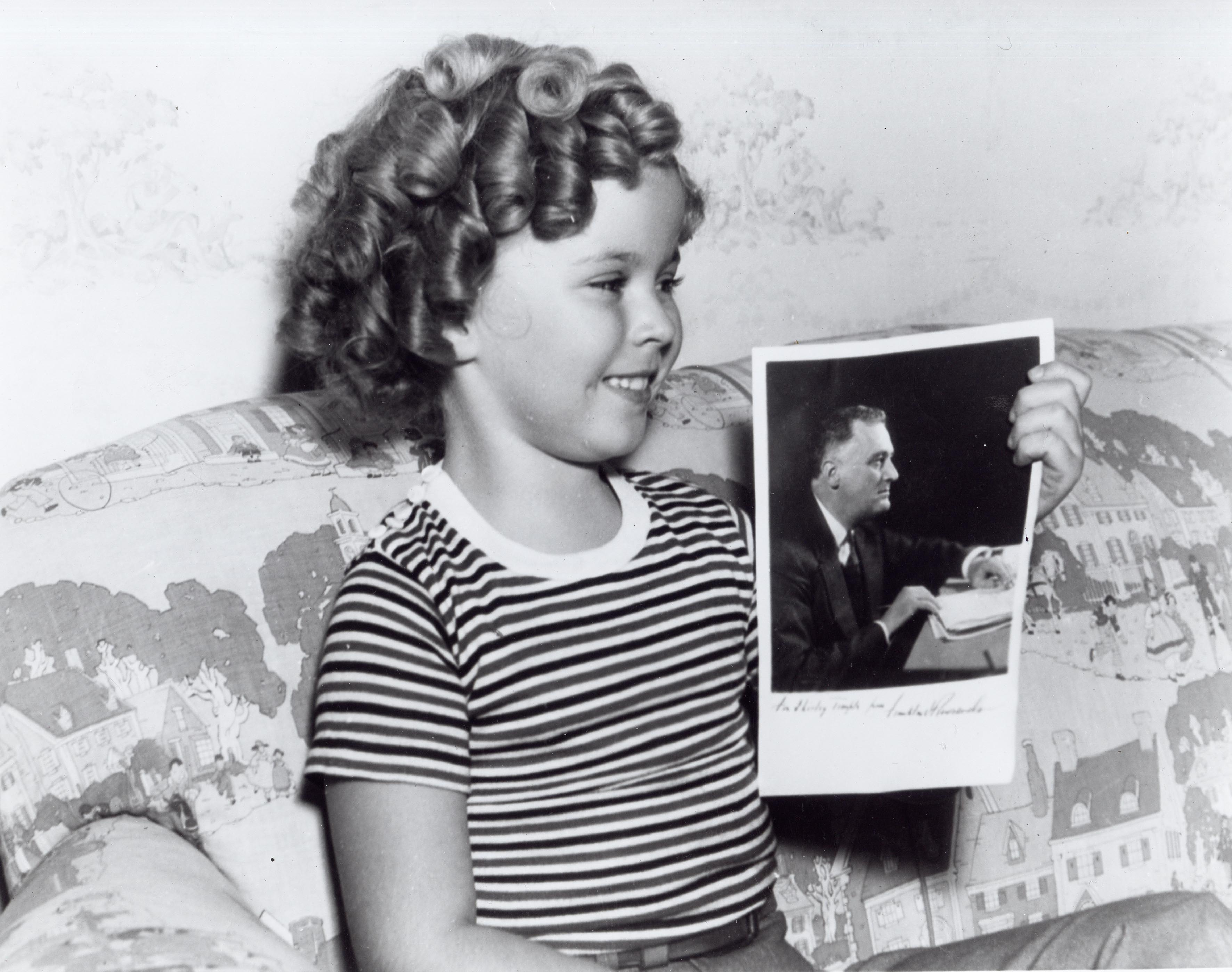 Shirley Temple and FDR photo