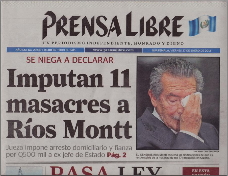 Conviction of Genocidal Dictator Efrain Rios Montt Overturned by Guatemala's Highest Court