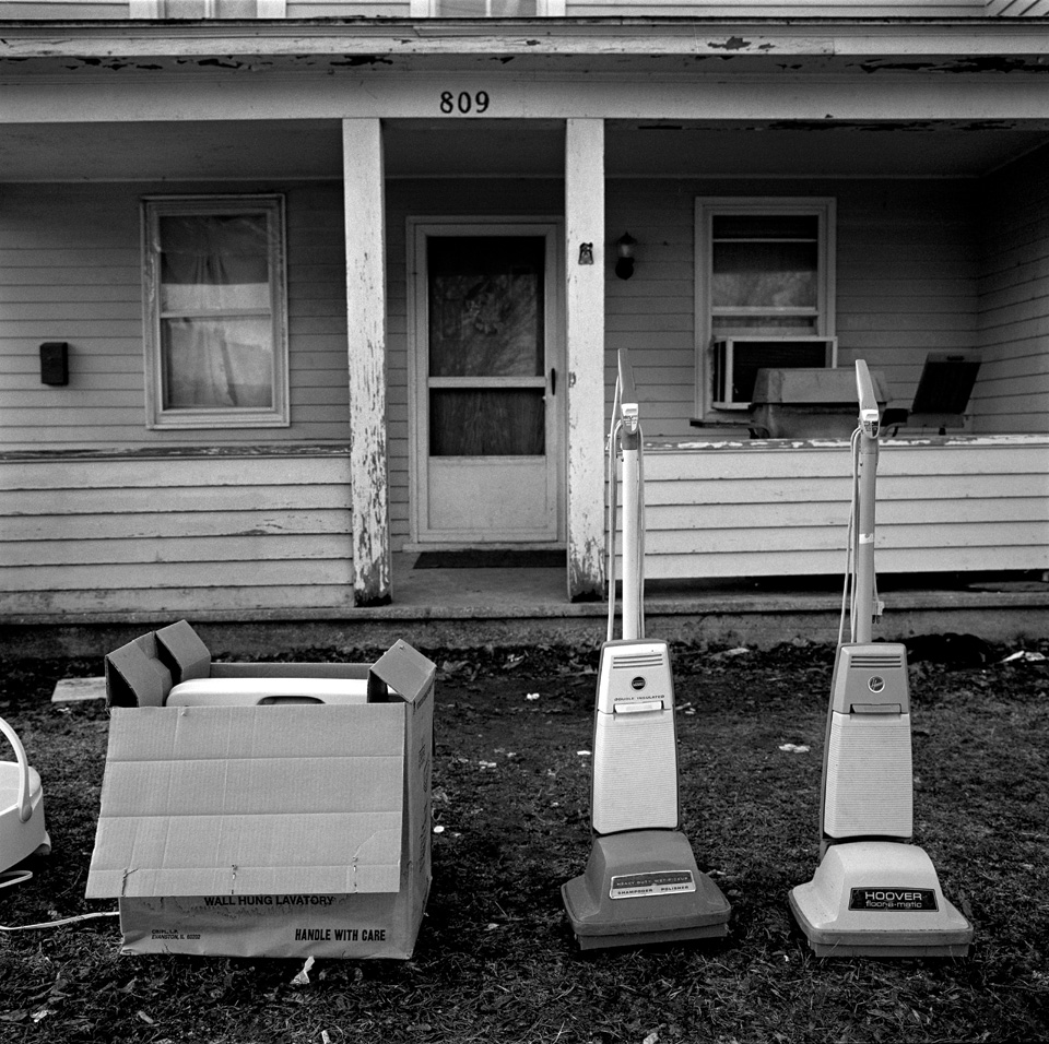 Vacuum cleaners at Yard Sale, Janesville, Wisconsin.