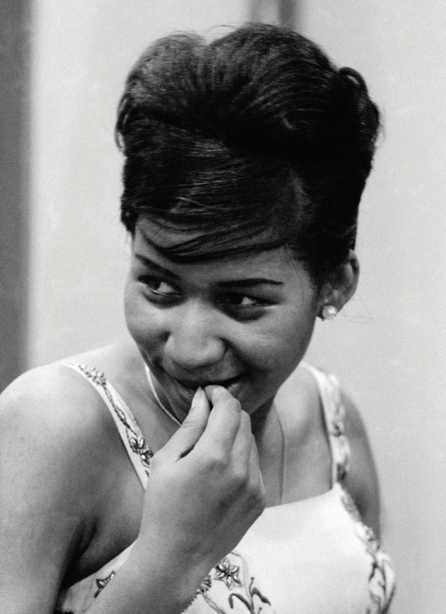 Aretha Franklin recording the first sides for Columbia, New York City, August 1960.