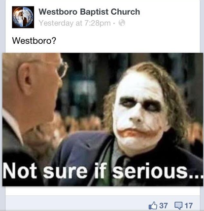 Dark Knight Westboro Baptist Church hack