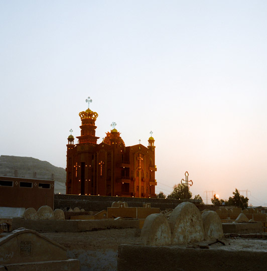 St. George Church by the Coptic cemetery near the Red Monastery in Sohag.