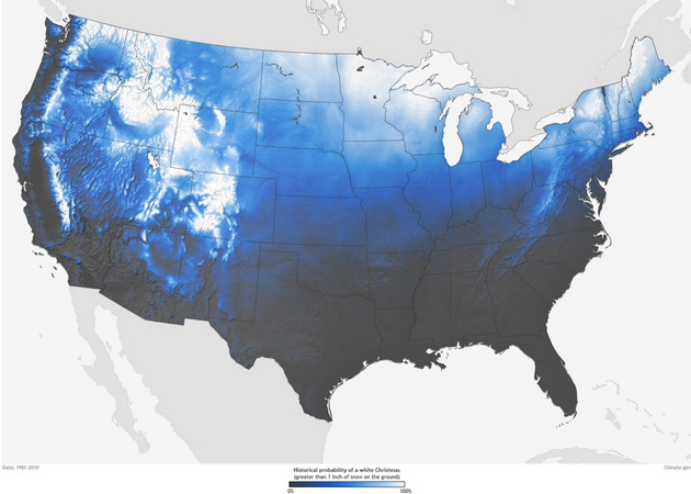 What Are the Odds Your City Will Have a White Christmas?