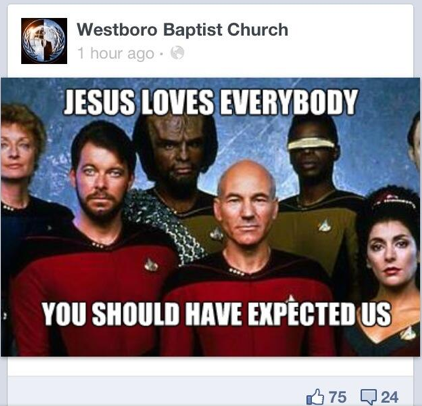 Star Trek Westboro Baptist Church hack