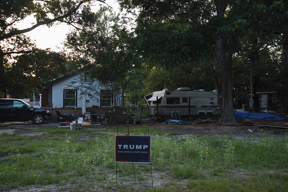 Yard of Trump Supporter