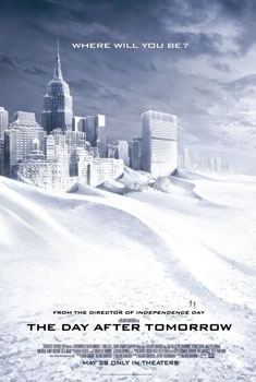 Global warming freezes the Earth in 2004's The Day After Tomorrow.