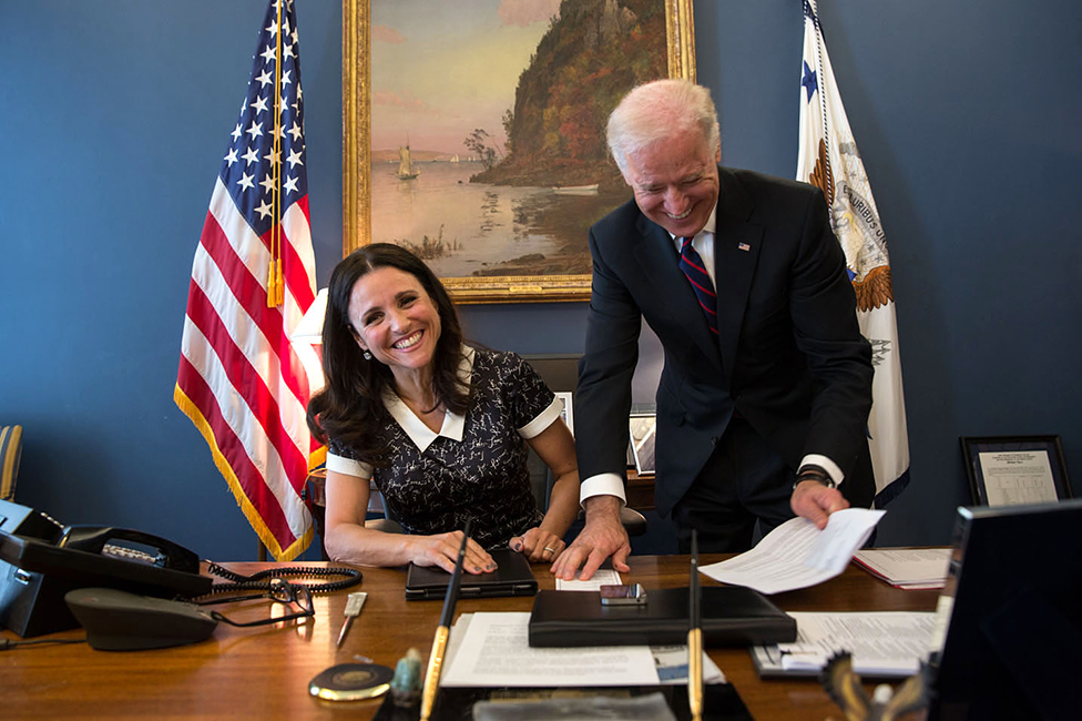 Julia Louis-Dreyfus and Joe Biden