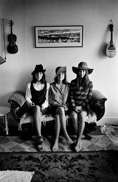 The Baez sisters: Joan, Pauline, and Mimi. San Francisco, 1968.