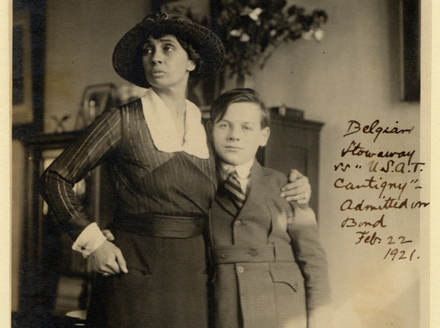 Col. Helen Bastedo posted bond for 13-year-old Osman Louis, a Belgian stowaway, February 1921