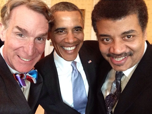 Bill Nye Neil deGrasse Tyson Barack Obama selfie