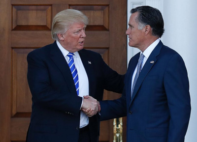Trump Team Is Feuding Over Mitt Romney
