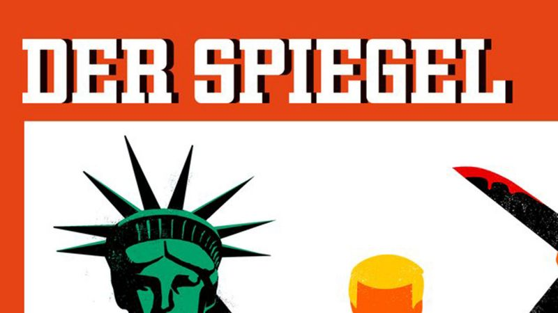 One of the largest magazines in europe just sent donald for Spiegel crime