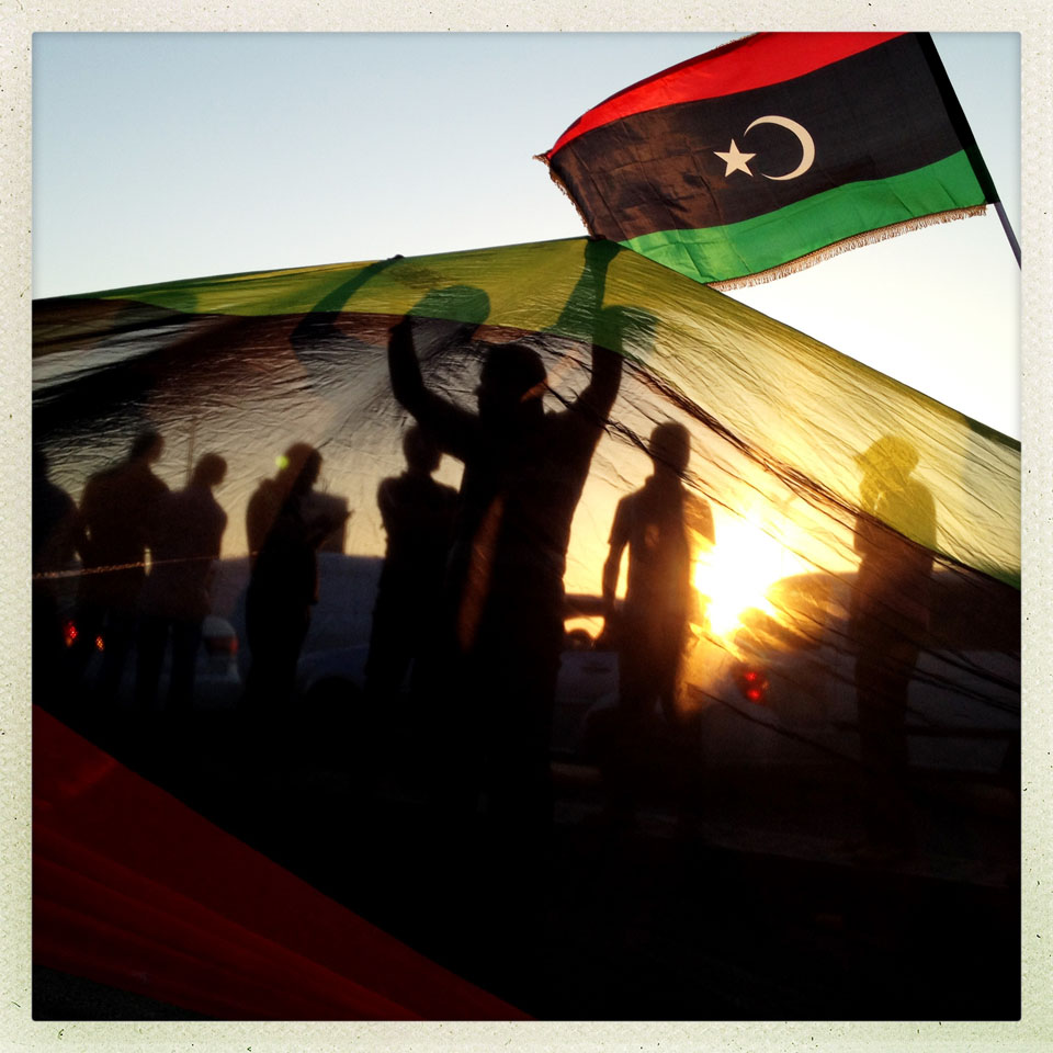Libyans rejoice with song and dance along the boardwalk of Benghazi after voting for the first time in more than 40 years.