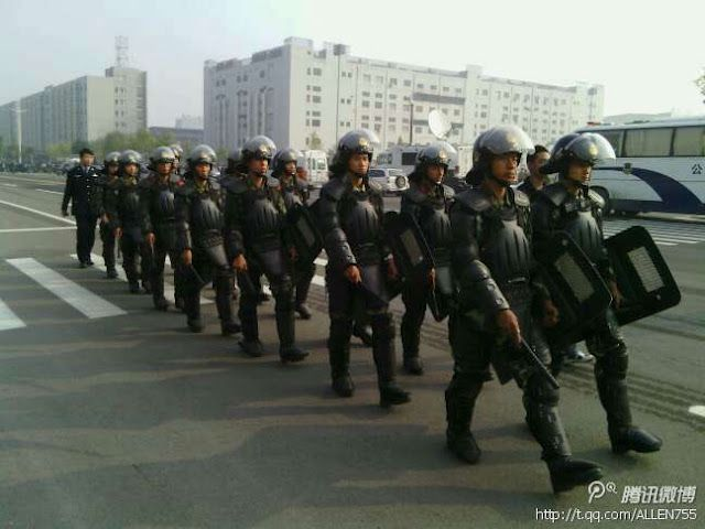 Law enforcement in Taiyuan, China
