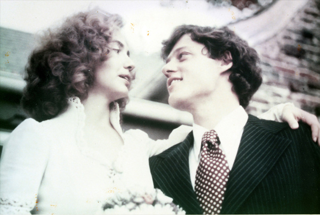 Bill and Hillary on their wedding day in Fayetteville, Arkansas, on October 11, 1975.