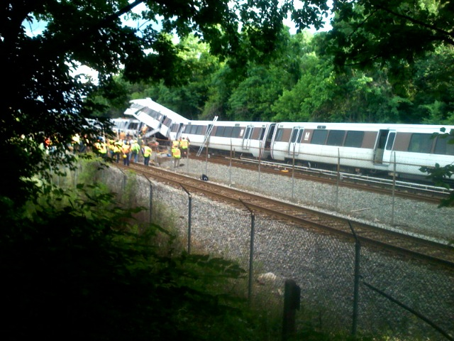 DC Metro Crash Photo - Metro Red Line
