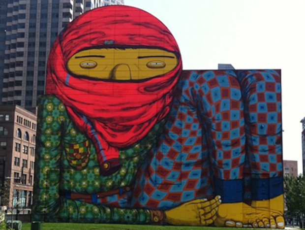 Bostonians freak out about mural because shariahh for Dewey square mural