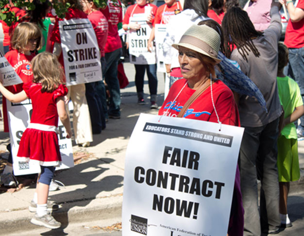 Chicago teachers on strike: September 10, 2012. br5ad, Flickr