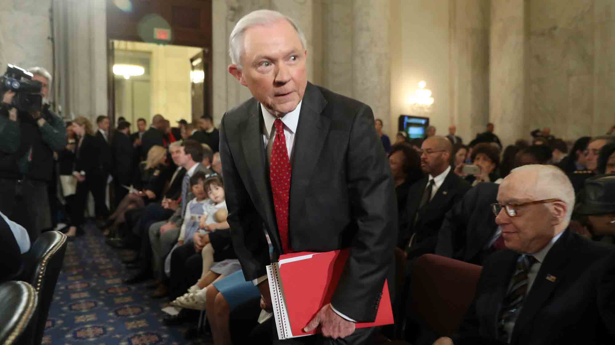 Jeff Sessions Channels Donald Trump on Russian Hacking