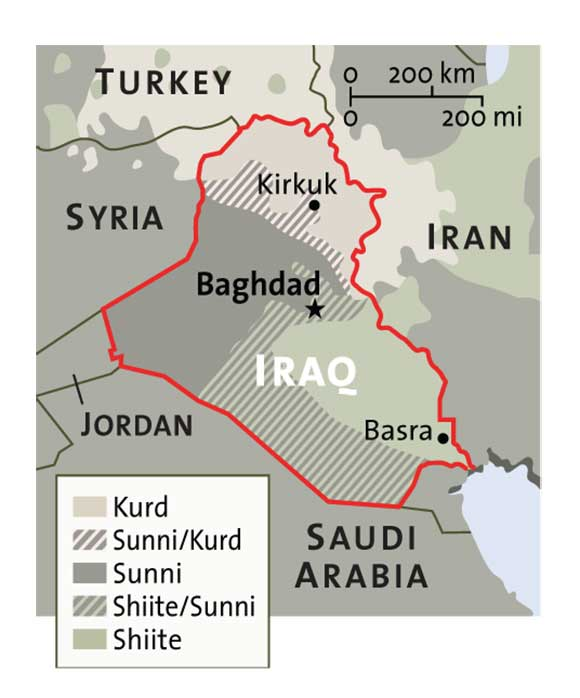 Distribution of Ethnic Groups in Iraq