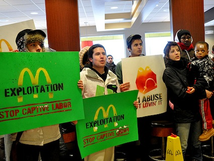 Fast Food Workers Protest Poverty McWages