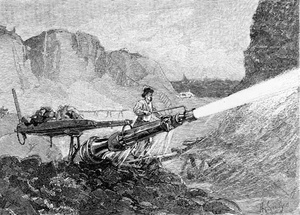 minor with hydraulic cannon