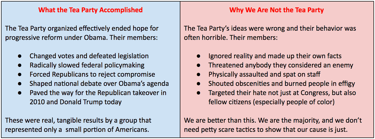 how liberals can use the tea party playbook to stop trump mother from indivisible a practical guide for resisting the trump agenda