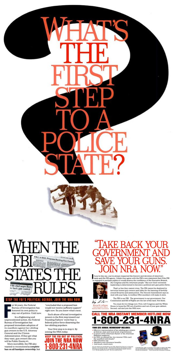 first step to police state