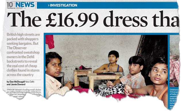 The company that made the world's most famous dress had a child labor problem in India.