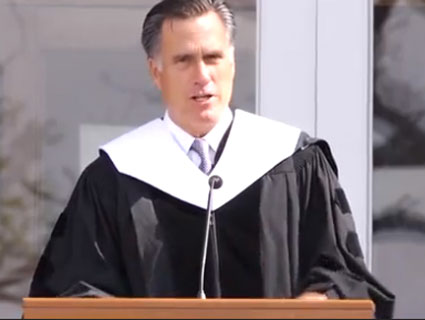 Mitt Romney's Advice to College Grads: Start Having Babies as Soon as Possible