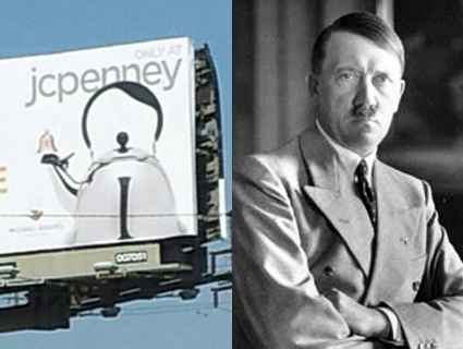 HItler tea kettle billboard Culver City JCPenney