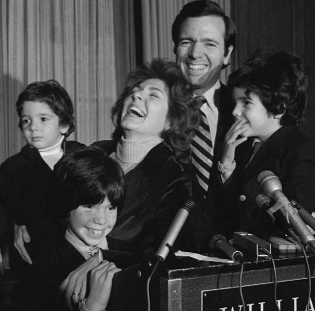 ohn and Teresa Heinz, with their sons Chris, John, and André, announcing his Senate bid in 1975