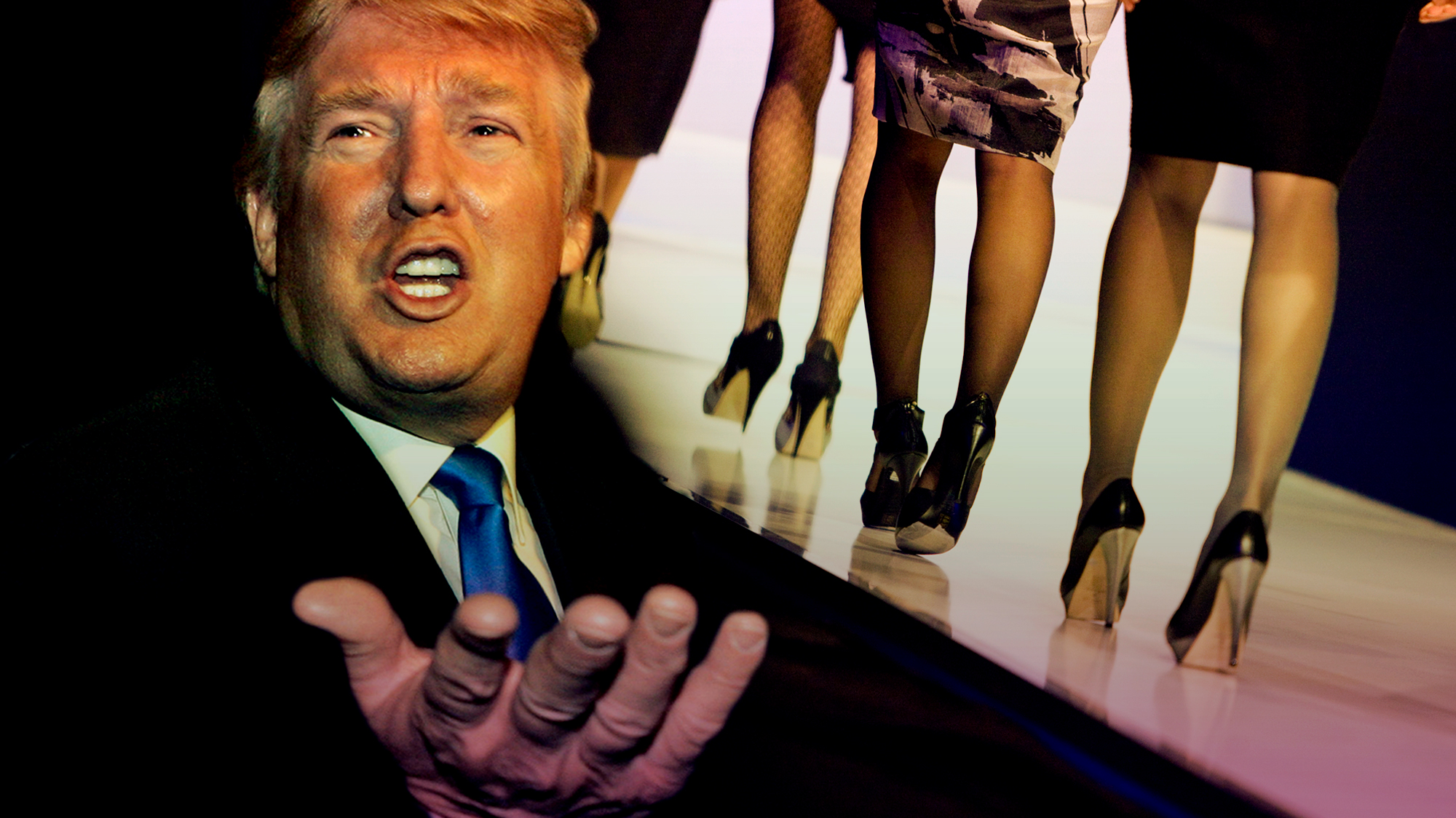 Trump executive won 39 t deny allegations that trump models for Donald model