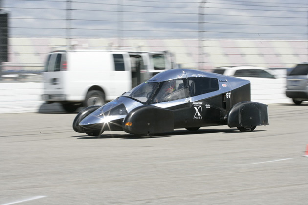 One of Edison2's Very Light Cars at the X-Prize Knockdown
