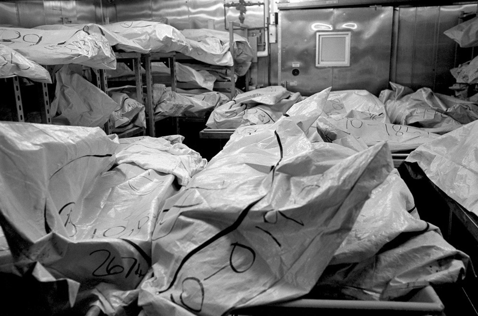 Unclaimed bodies at the Wayne County morgue.