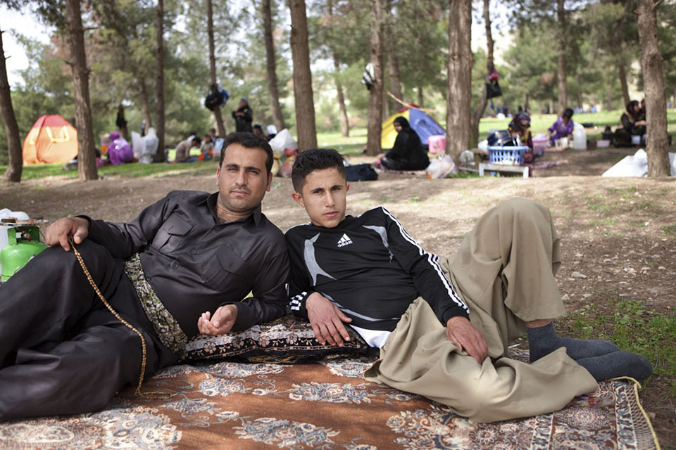 A father and son enjoying a Friday picnic in Dukan, just outside of Sulaimani, which is the cultural and business capital of Kurdistan. Many of the rebel leaders of the last 40 years were from Sulaimani, and today it wields important influence over the state of Kurdish affairs.