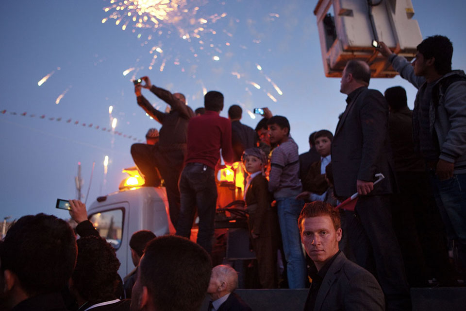 Kurds celebrate their traditional new year, Newroz, long informally prohibited under Saddam Hussein and now the biggest holiday of the year. In Kurdish legend, the day celebrates the deliverance of the Kurds from the tyrant King Zuhak, a monster with two serpents growing from his shoulder who feeds on small children's brains. For many, this holiday has become a symbol of Kurdish national struggle, and the legend a metaphor for the Kurd's deliverance from Saddam Hussein, a latter-day King Zuhak.