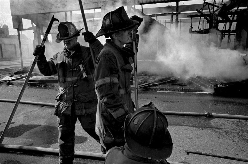Firefighters in Detroit.