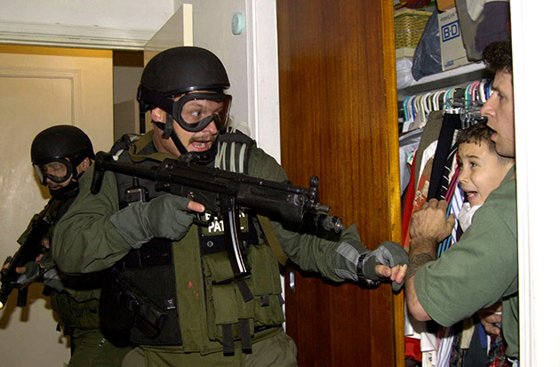 Elian Gonzalez held in closet.