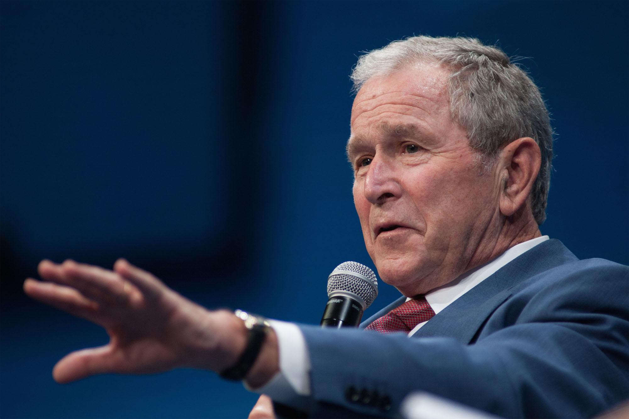 Former presidents Bush condemn white supremacists