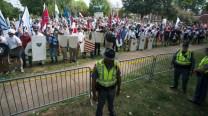 Emancipation Park barricade