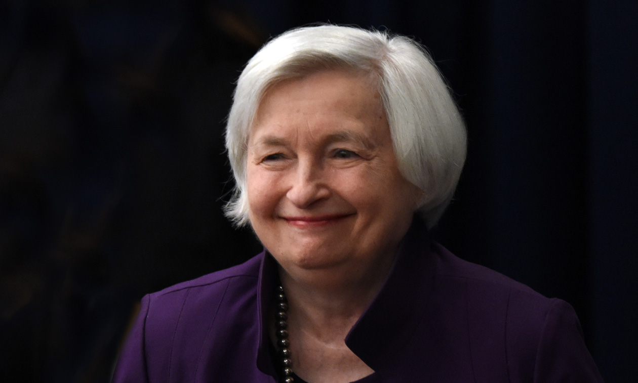 Wall St rises modestly on Yellen speech
