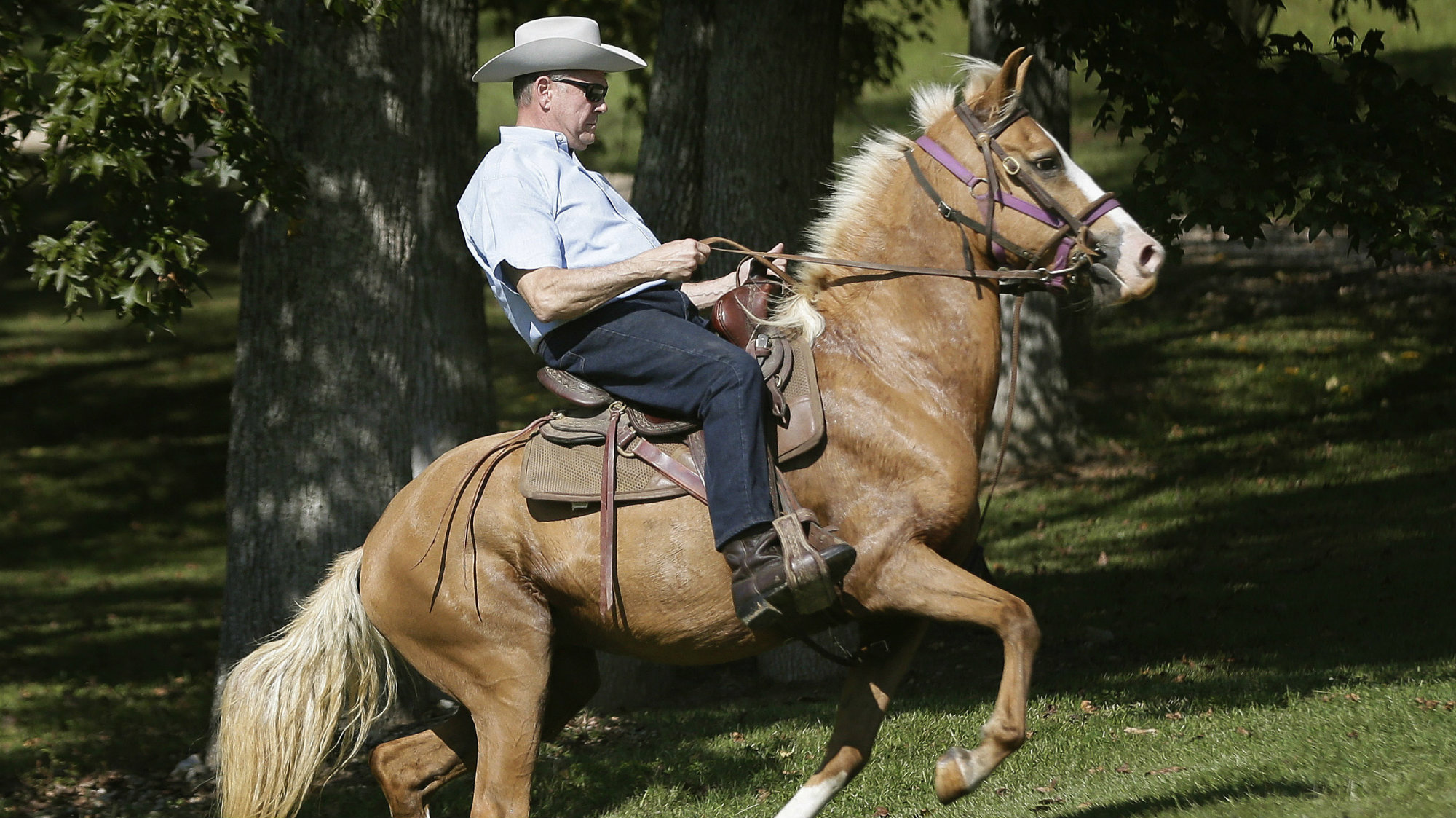 US Senate candidate Roy Moore rode a horse to his polling place