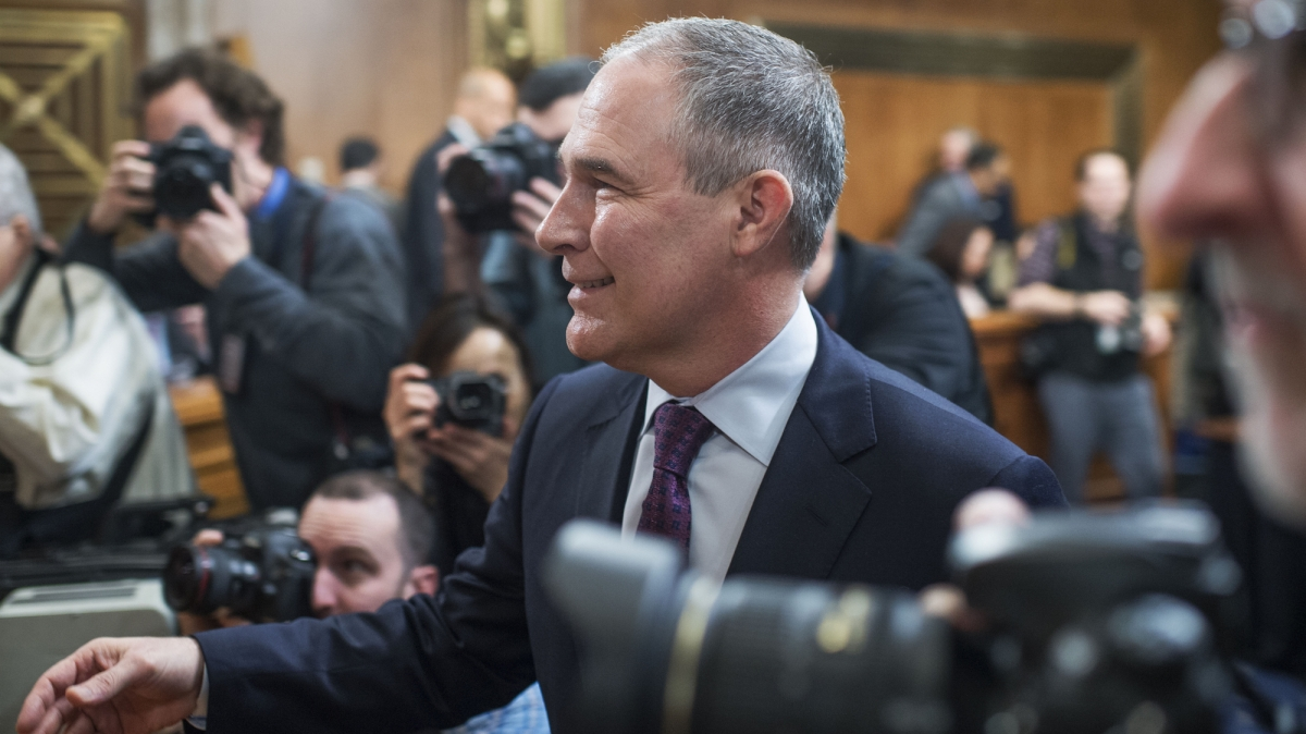 motherjones.com - Rebecca Leber - Here's what Trump's EPA boss was up to while disasters struck
