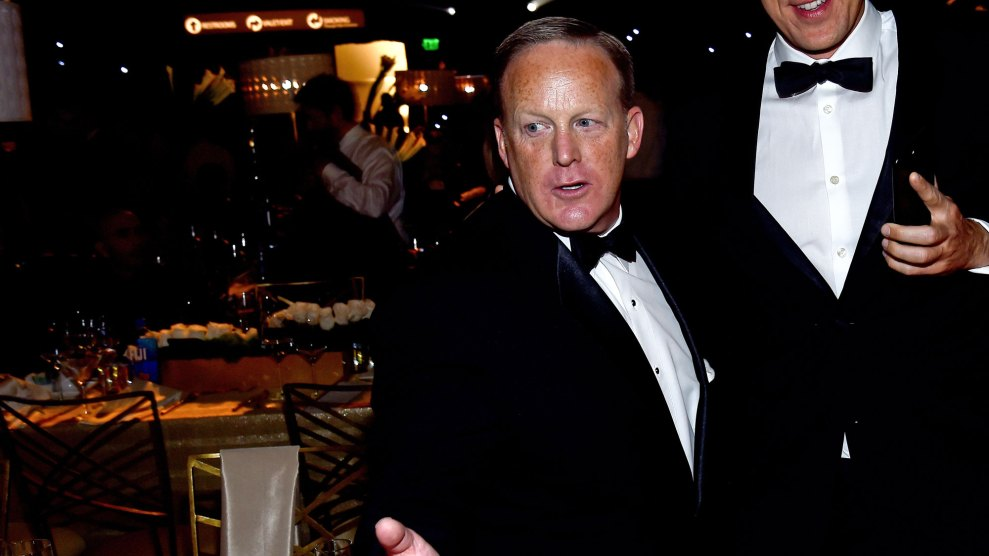"""If You Text Sean Spicer He'll Contact the """"Legal Authorities"""""""