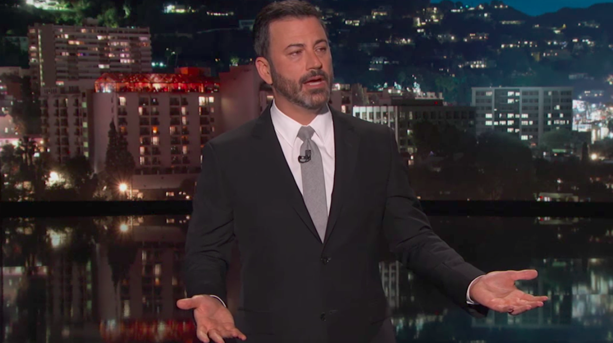 Jimmy Kimmel delivers emotional and powerful response to Las Vegas massacre