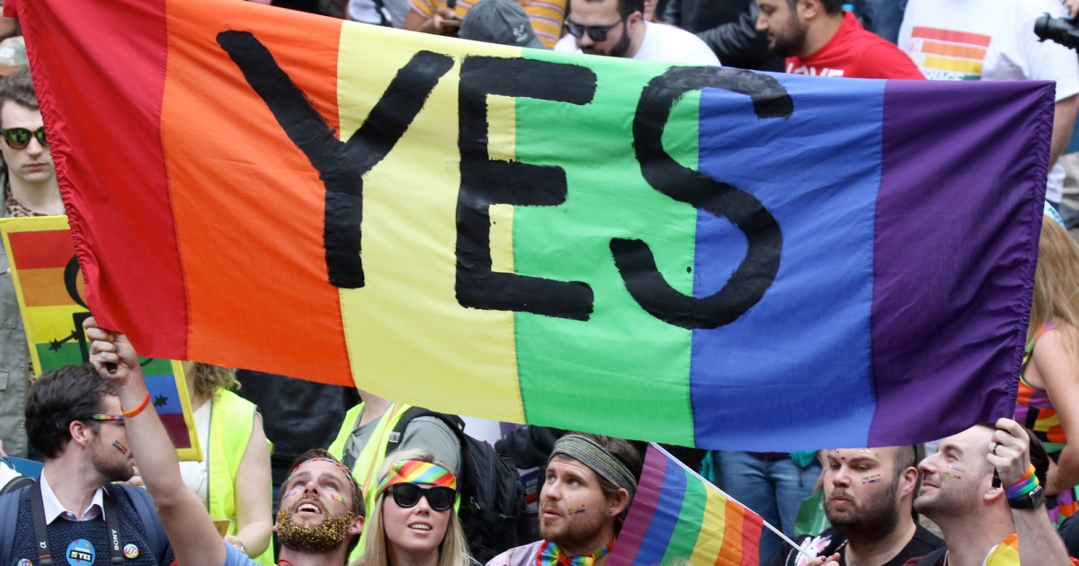 "photo image Australian Voters Say a Resounding ""Yes"" to Same-Sex Marriage in Historic Survey"
