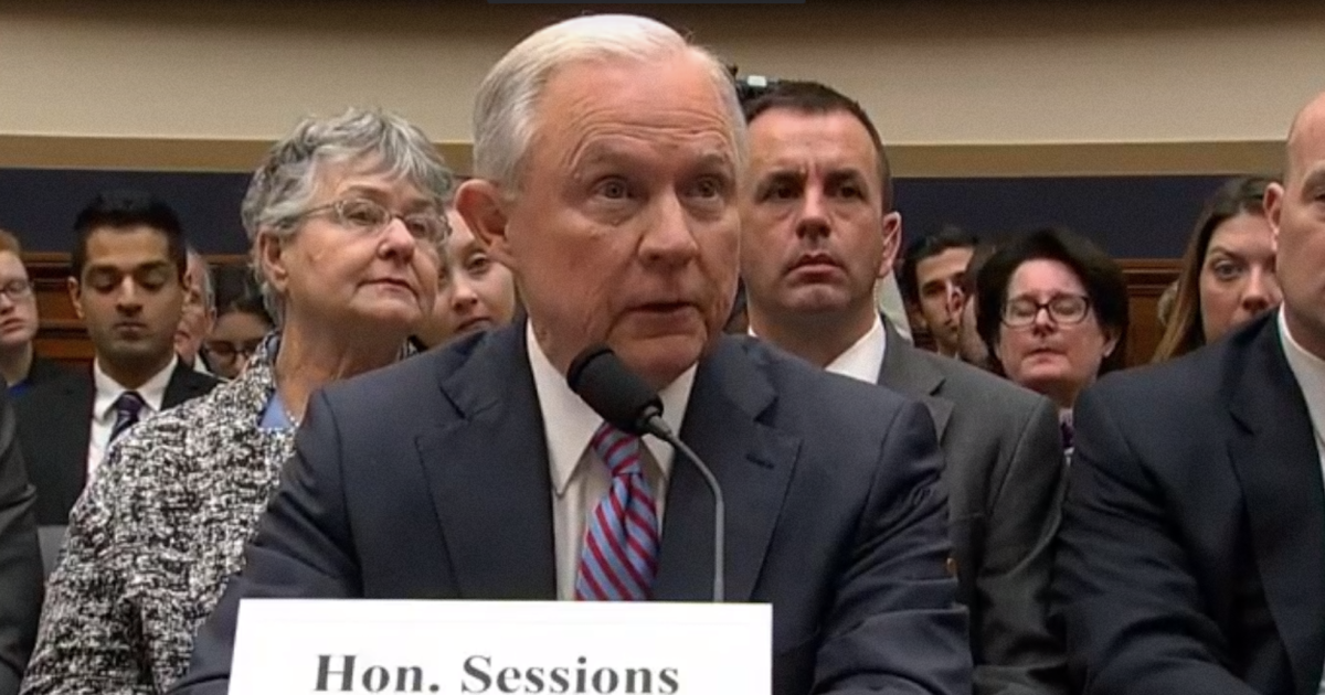 "photo image Jeff Sessions Gets Hammered for Repeatedly Telling Congress ""I Don't Recall"" Russia Contacts"