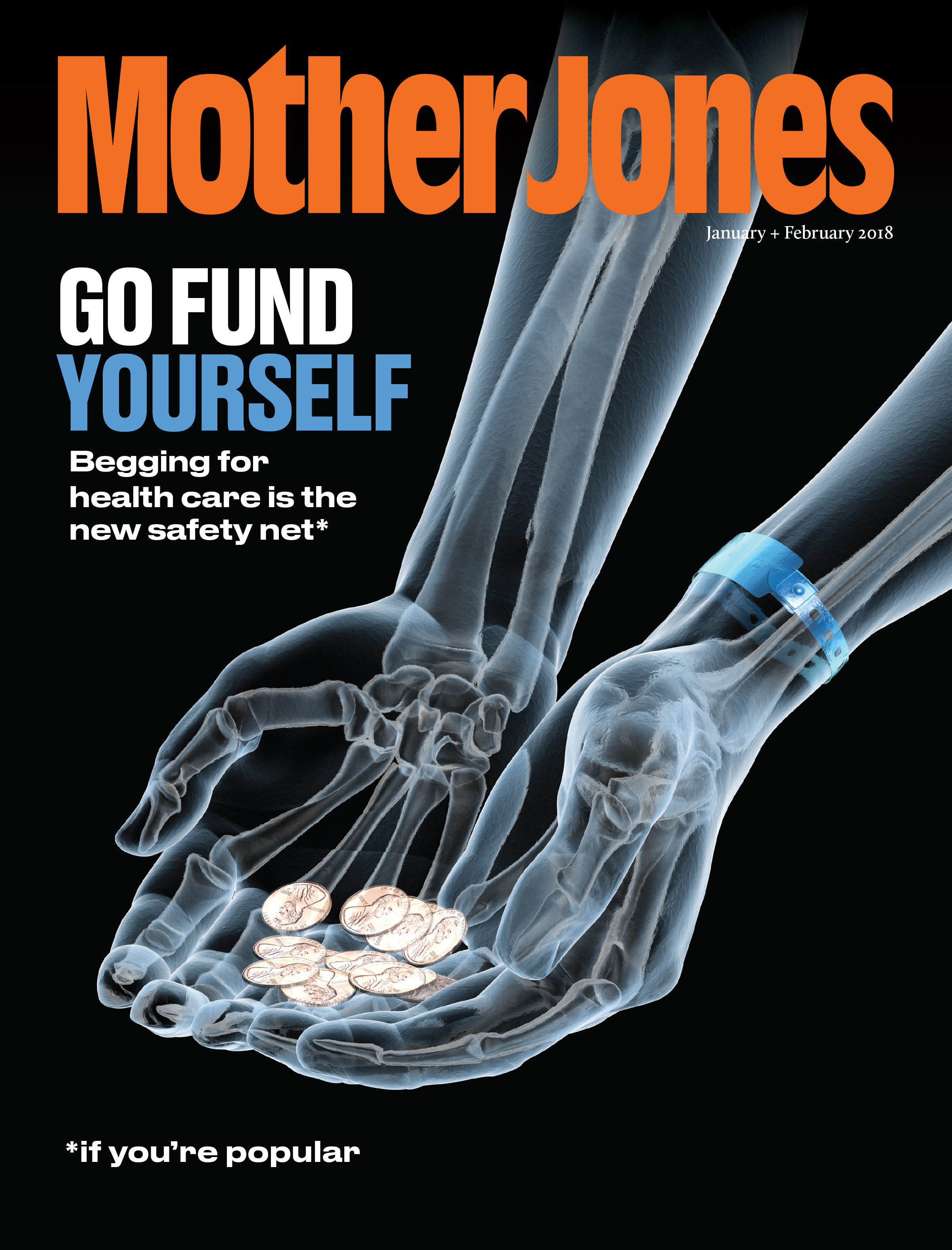 Mother Jones Magazine Cover : January + February 2018